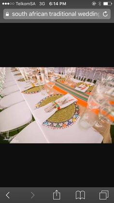 Wed ideas..04.08.18 Traditional Wedding Decor, African Traditional Wedding, Zulu Wedding, Chic Wedding, Tent Decorations, Wedding Decorations, African Christmas, My Wedding Planner, Table Setting Inspiration