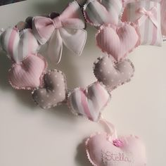 Baby Crafts, Felt Crafts, Best Baby Shower Gifts, Newborn Baby Gifts, Baby Party, Valentine Gifts, Baby Room, Shabby, Wreaths