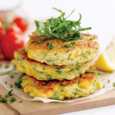 Corn and zucchini fritters - thinking about these this morning...yummy!!!