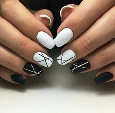 61 creative colorful stylish summer nails design ideas for 2018 - nail art . - 61 creative colorful stylish summer nails design ideas for 2018 – nail art – occasional nail de - White Acrylic Nails, Summer Acrylic Nails, Best Acrylic Nails, Acrylic Nail Designs, Summer Nails, Nail Art Designs, Nails Design, Black Shellac Nails, Black White Nails