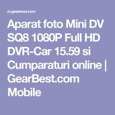 Aparat foto Mini DV SQ8 1080P Full HD DVR-Car 15.59 si Cumparaturi online |  GearBest.com Mobile
