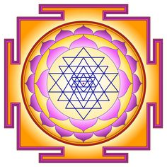 The Sri Yantra is considered as the mother of all Yantras because they all come from this diagram. This ancient symbol was built with Sacred Geometry. Sri Yantra Meaning, Sri Yantra Tattoo, Tattoo Symbole, Shri Yantra, Instruments, Ancient Symbols, Sacred Symbols, Sacred Art, Ancient Art