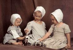 Children wore bonnets in 1810.