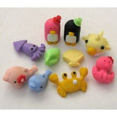 These could be made out of clay also.  Previous Pinner wrote - Sea Mate Japanese Eraser 10 Pc - Set#2