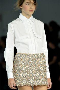#Cristopher Kane  white blouse #2dayslook #white fashion #whitestyle  www.2dayslook.com