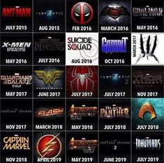 Superhero Movie Chart Shows Film Line-Up For The Next 4 Years — GeekTyrant