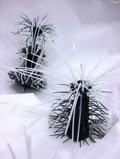 """""""Coral Flowers"""" (January 2014) Sculpture by Poramit Thantapalit Over 30 pieces made of nylon cable tie, rubber seals, coaxial cables, telephone wires and electric wires that combine to create a..."""