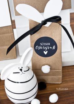 kukuwaja: Osterfreebies 2017 Hasenohren und Pfötchen - Schnelle DIY Osterverpackung