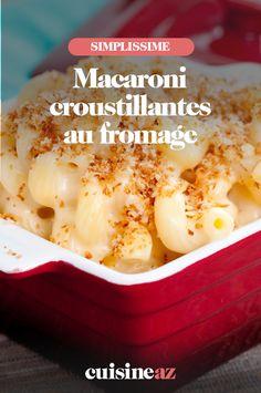 Les macaroni croustillantes au fromage (gruyère) sont un plat parfait pour se réchauffer. #recette #cuisine #pates #macaroni #fromage