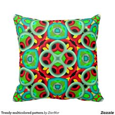 Trendy multicolored pattern pillows