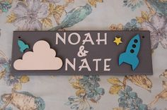 Space Rocket Personalised Door Name Sign Plaque Plate.