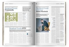 Editorial / magazine design: MediaTrends by The Design Surgery , via Behance