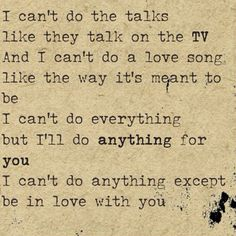 Romeo and Juliet ~ Dire Straits // lyrics // i can't do anything except be in love with you