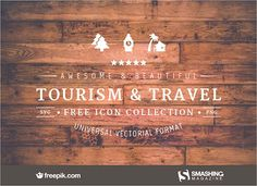Freebie: Tourism & Travel Icon Set (100 Icons, PNG, SVG)