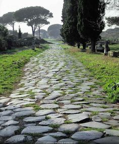 The Roman Empire made great advancements in transportation through the use of roads. These roads allowed for easier trade and effective travel between cities.