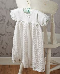 Easy lace christening gown