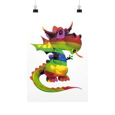 Draco Rainbow Vertical Fine Art Prints (Posters)