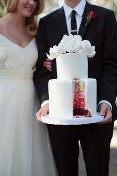 Charming red and ivory autumn wedding inspiration via Coastal Bride