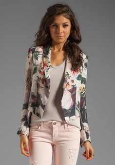 HAUTE HIPPIE Floral Jacket in Floral Multi at Revolve Clothing - or this can work too ;)