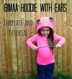 EmmylouBeeDoo!: Adding Ears to your Bimaa Hoodie - Template and Tutorial