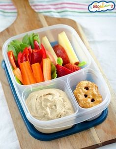 Same goes for hummus. EVERYTHING is better with hummus.   27 School Lunch Tips That Will Keep You Sane