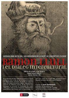 """Conferència """"Ramon Llull i el diàleg intercultural"""". Espai Avinyó (Barcelona). 20 d'abril"""