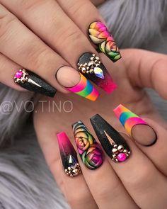 it April 05 2020 at nails Dope Nails, Glam Nails, Bling Nails, Fun Nails, Summer Acrylic Nails, Best Acrylic Nails, Acrylic Nail Designs, Nail Art Designs, Fabulous Nails