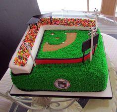 baseball game cake