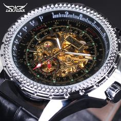 18.60$  Buy here - http://ali395.shopchina.info/go.php?t=32636625830 - Original JARAGAR Brand Mechanical Watch for Men Business Automatic Real Leather Dress Clock Skeleton Analog Relojes gift+box  #aliexpressideas