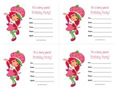 Strawberry shortcake birthday invitation digital download free printable strawberry shortcake birthday invitations filmwisefo Gallery