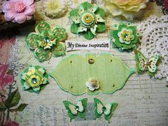 Light Mint Green and Ivory Handmade Paper by mydivineinspiration