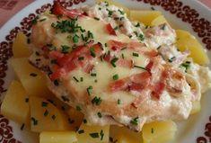 Kuřecí řízky (nejen) se slaninou - zapečené Ham, Potato Salad, Mashed Potatoes, Food And Drink, Chicken, Breakfast, Ethnic Recipes, Nova, Fitness