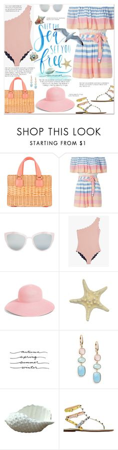 """""""SeaSide Style"""" by fassionista ❤ liked on Polyvore featuring Mark Cross, Mara Hoffman, Topshop, Marysia Swim, Eric Javits, Saks Fifth Avenue and Valentino"""