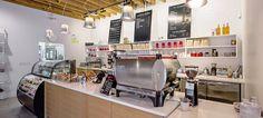 Caffe Aromi Interior Photo of Service Counter - Jamaica Plain Coffee Shop