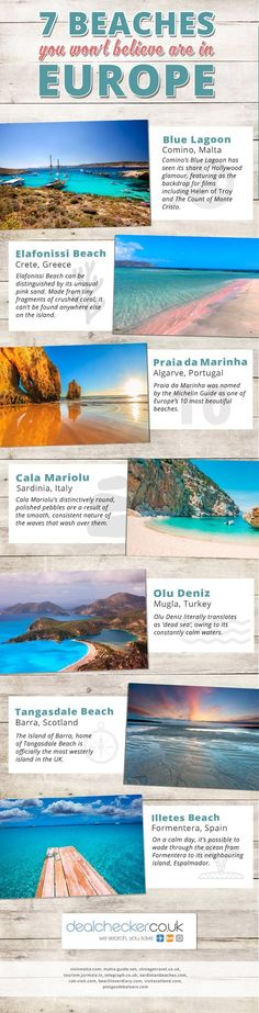 7 Beaches You Won't Believe are in Europe #Infographic #Travel More