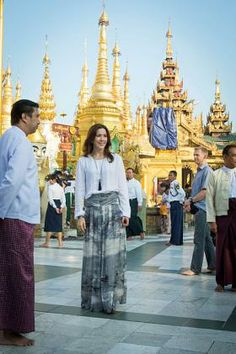 HRH Crown Princess Mary of Denmark as patron of the Danish Refugee Council visits a 2,500 year old temple in Myanmar 1/11/2014