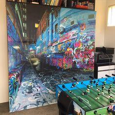 'Melbourne Lane Graffiti' Pickawall Removable Wallpaper