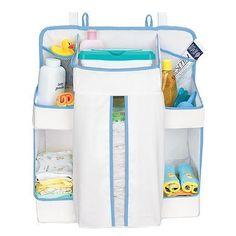 Boys Nursery Diaper Change Storage Hanging Nappy Sack Changing Table  #DiaperChangeOrganizer