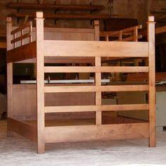 queen size twin over queen bunk bed