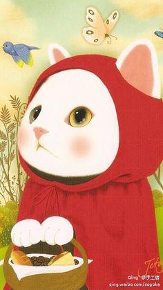 Jetoy Choo Choo cat little red riding hood. 貓 設計 - Google 搜尋