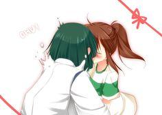 Chihiro and haku cute! <3