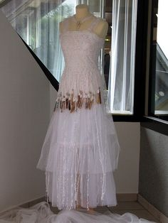 bobbin lace white dress- it's neat that they make the lace directly on the dress Bobbin Lace Patterns, Bead Embroidery Patterns, Silk Ribbon Embroidery, Bobbin Lacemaking, Lace Weave, Types Of Lace, Textiles, Needle Lace, Lace Doilies