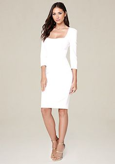 9a65f27997 In need of a little cocktail dress  Look no further than the Au Revoir Ivory  Bodycon dress! Halter neckline with a fun one-shoulder ruffle top…