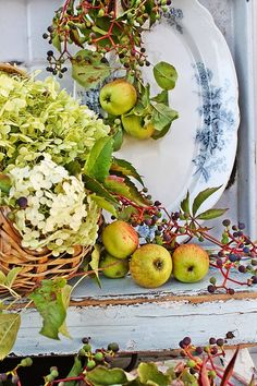 Fall wreath components/colors