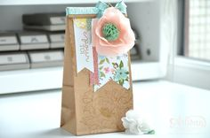 Birthday Blooms Stamp Set and Birthday Bouquet DSP for a cute little gift bag ~ Rachel Grandin-Torchet
