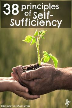 38 Principles of Self-Sufficiency. Thought provoking, maybe even disturbing, but worth reading!  http://www.TheSurvivalMom.com