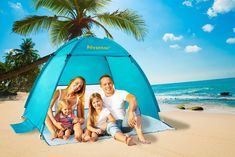 Beach Tent Sun Shelter Umbrella Outdoor Pop up Anti UV EasyUp for Camping for sale online Go Camping, Outdoor Camping, Camping Hacks, Outdoor Gear, Beach Tent, Popup, Sun, Summer, Outdoor