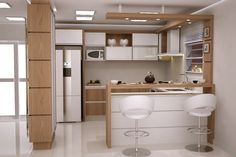 Cores Armario Cozinha E Vidro Leitoso 103991 Simple Kitchen Design, Kitchen Room Design, Best Kitchen Designs, Kitchen Cabinet Design, Home Decor Kitchen, Interior Design Living Room, Küchen Design, House Design, Kitchen Bar Counter