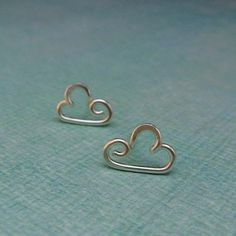 Cloud Post Earrings by Laladesignstudio on Etsy, $22.00