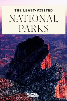 If you're looking for adventure and scenery without the crowds, here are the parks to travel to next. #nationalpark #park #parks #vacation #familytravel #